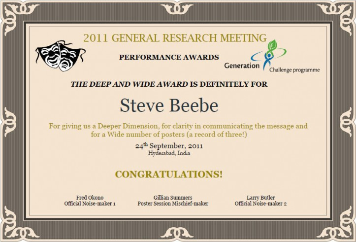 The Deep and Wide Award