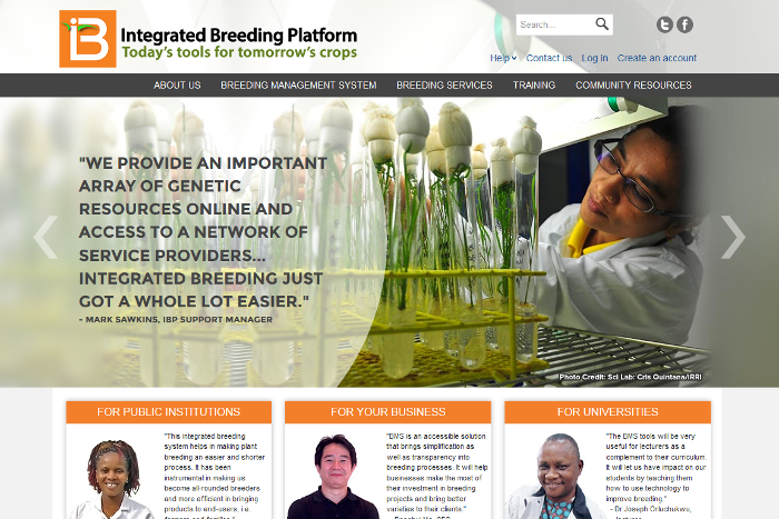 Breeders access IBP's services through its Web Portal.
